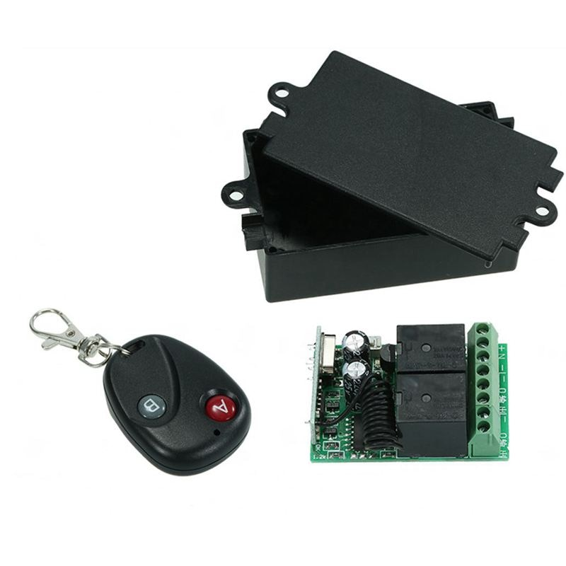 Interruptor de Control remoto inalámbrico, RF 433Mhz CA 220V 2CH, módulo receptor por relé y transmisor de código de aprendizaje, Control remoto A1