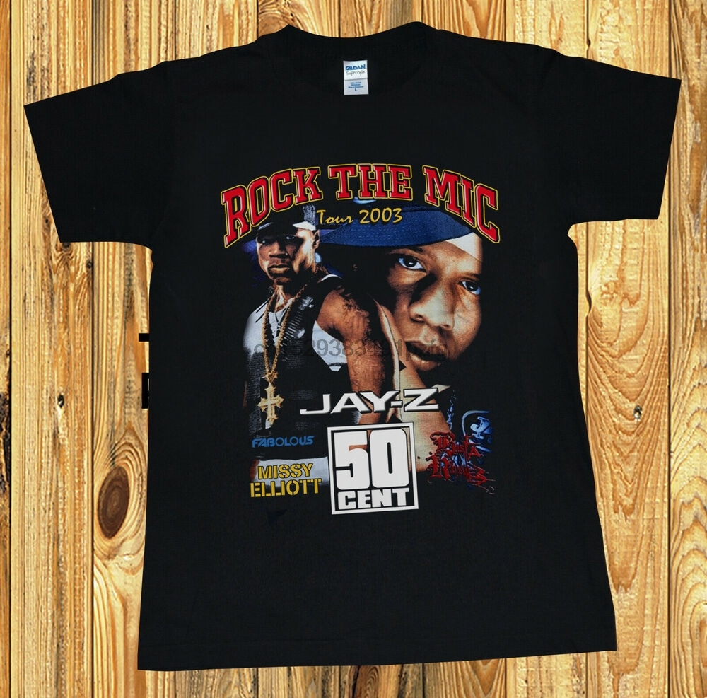 SELTEN! Jay Z 50 Cent Roc die Mic Vintage Rap T T-Shirt