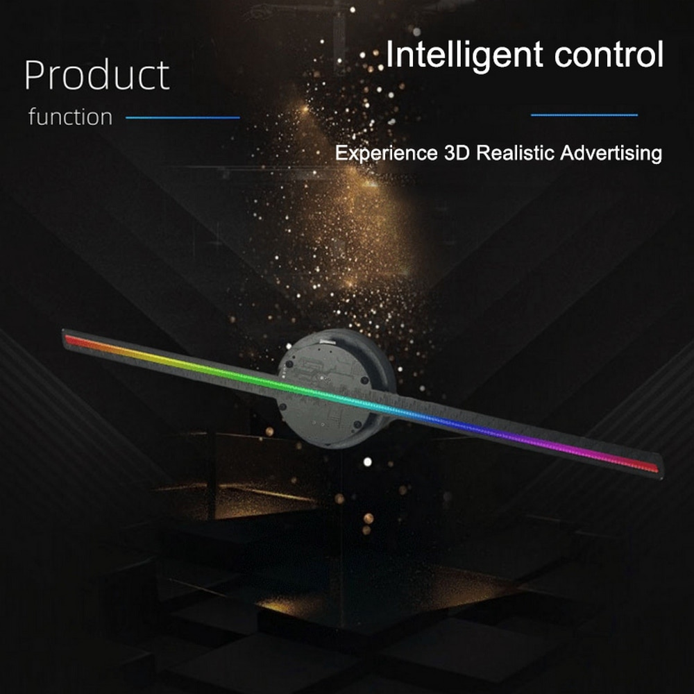 3D Holographic Projector Fan-shaped Advertising Remote Display Hologram Fan Holographic Lamp Display Advertising Logo Lighting