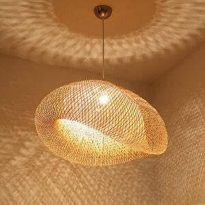 Chinese Classical Wooden LED Pendant Lights Lighting Retro Art Pendant Lamp Bamboo Lamp Hotel Rattan Kitchen Lamp Light Fixtures