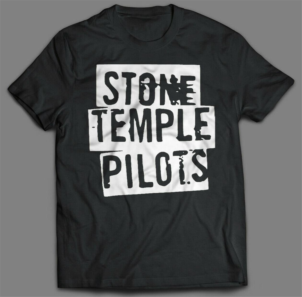 Camiseta con Logo de Stone Temple Pilots en negro para hombre, camiseta con gráfico de banda de Rock, camiseta blanca STP personalizada elegante