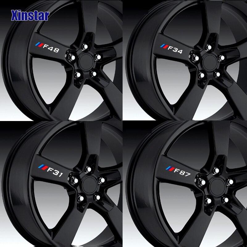 Adesivo de roda de carro para bmw, 4 unidades, para bmw f10 f20 f01 f02 f30 f31 f34 f48 f87