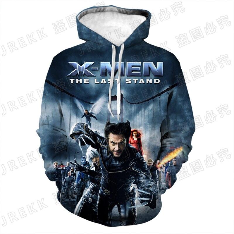New Fashion X-Men Wolverine Hoodies Cool Men Women Children Sweatshirts 3D Print Pullover Streetwear Boy Girl Kids Casual Tops
