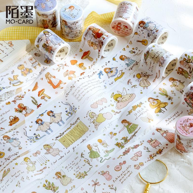 Mo.card ode à alegria 50 mm * 5 m papel fita adesiva scrapbooking decoração artigos de papelaria washi fita