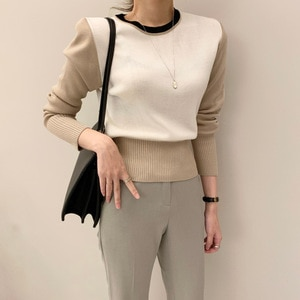 Korea spring new woman short sweater knitting long sleeve slim waist sweater pullovers