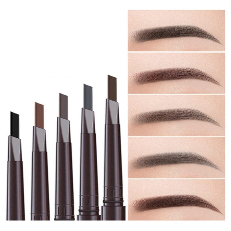 1PCS Natural Makeup Double Head Super Fine Eyebrow Pencil Waterproof Lasting Eyes Black Brown Make R