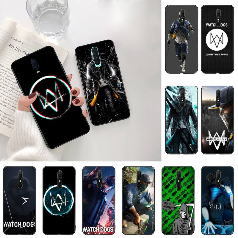 Funda negra para teléfono móvil Watch Dogs 2 Dedsec para Oppo A5 A9 2020 A5S Reno2 z Renoace 3pro Realme5Pro