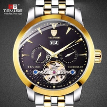 TEVISE Men Automatic Mechanical Wristwatches Auto Date Water Resistant Man watches Week Display  Wat