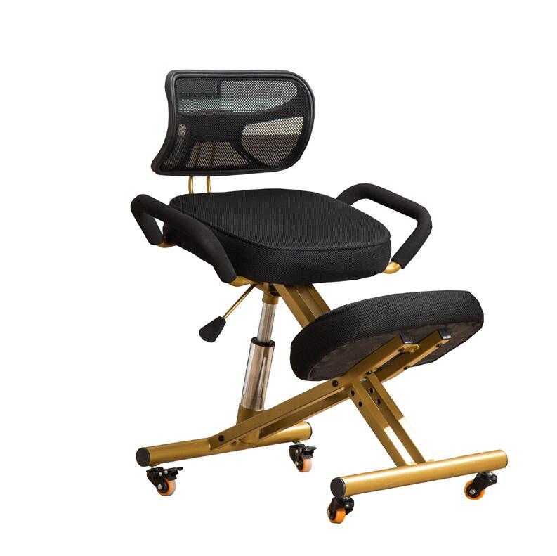 Ergonomically Designed Kneeling Chair W/Back&Handle&Caster Mesh Fabric Cushion Seat Office Computer Knee Ergonomic Posture Chair