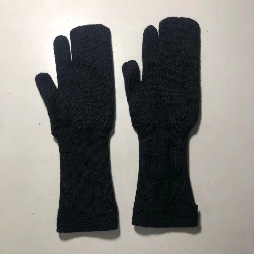 Novo outono inverno moda clássico na moda marca luxry design versátil lã quatro canto costura marca manter quente à prova de frio luvas m6