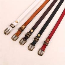 New 2021 popular ladies belt retro simple belt wild  buckle leather belt jeans dress belt women