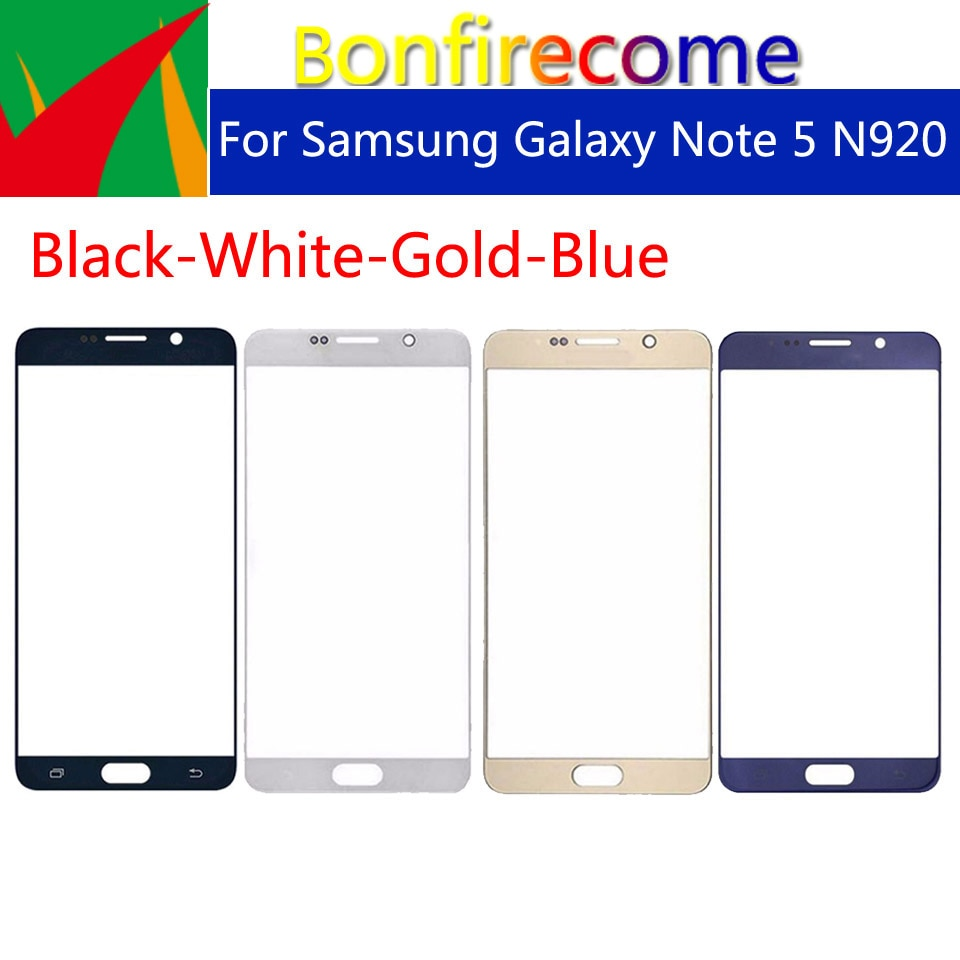 10 piezas Note5 pantalla táctil para Samsung Galaxy Note 5 N920 N920I N920G N920DS N920A N920T LCD Front exterior de cristal lente de la pantalla