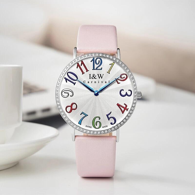 CARNIVAL Top Brand Ladies Fashion Rose Gold Watch Women Luxury Waterproof Ultra Thin Sapphire Quartz Wristwatch Relogio Feminino enlarge