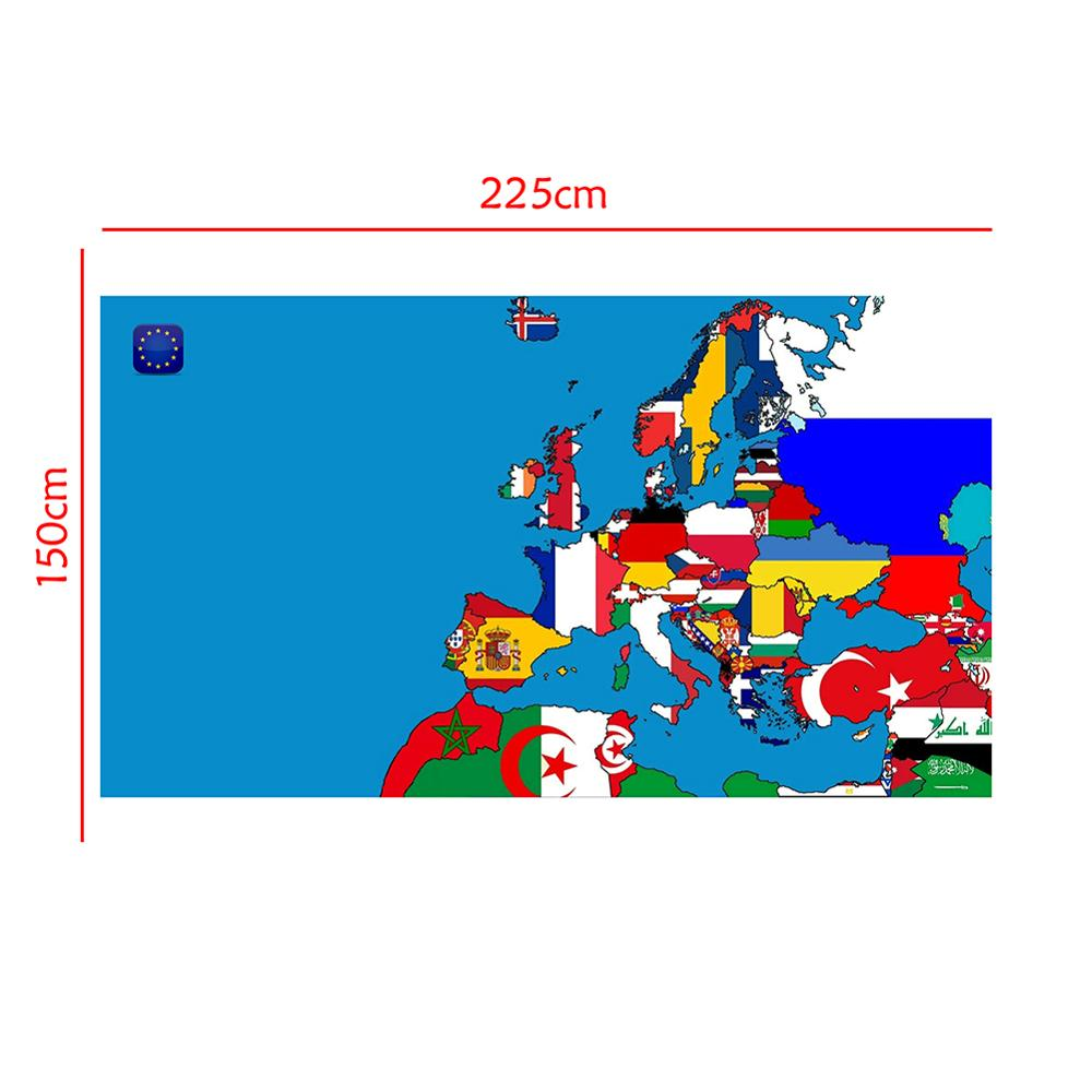 colorful world map wall decor 150x225cm large world map office supplies detailed antique poster wall chart for culture supplies 150x225cm DIY European Map Office Home Wall Decor Map Poster Non-Smell Photography Background Photo Studio Backdrop