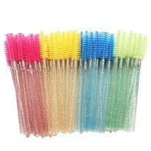 50PCS/Bag Eyebrow Mascara Wand Eyelash Spoolie Brush Disposable Lash Wands Eyelash Extension Brush D