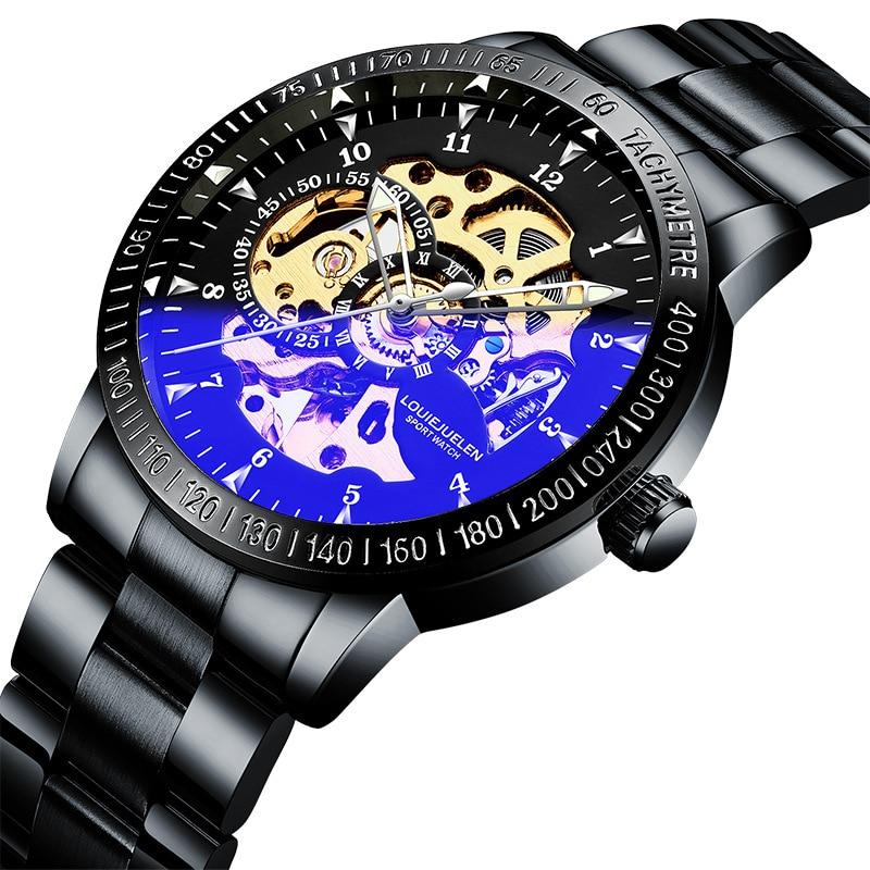 Механические часы мужские Студенческие трендовые модные спортивные мужские механические часы
