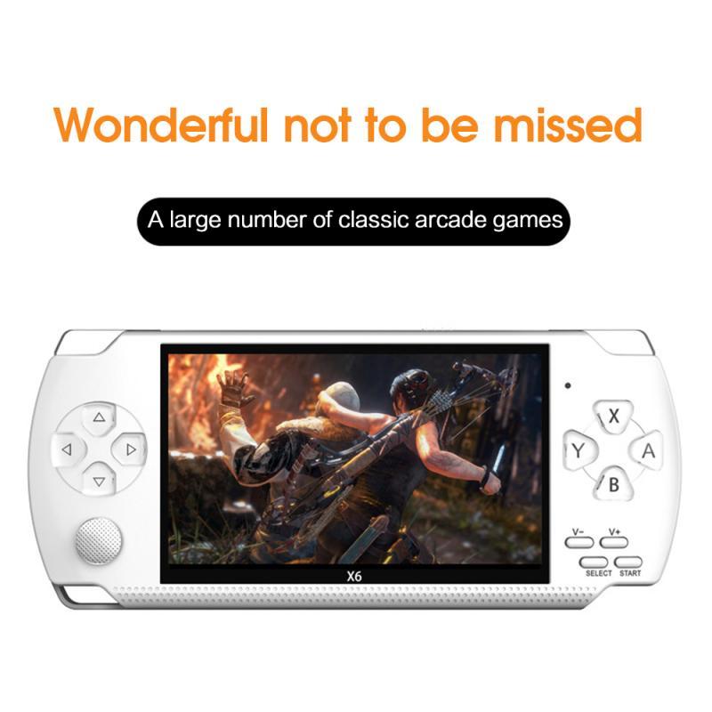 Reproductor de consola de videojuegos X6 para PSP gampad portátil Retro Pantalla de 4,3 pulgadas reproductor de Mp4 soporte de cámara, Video,E-book