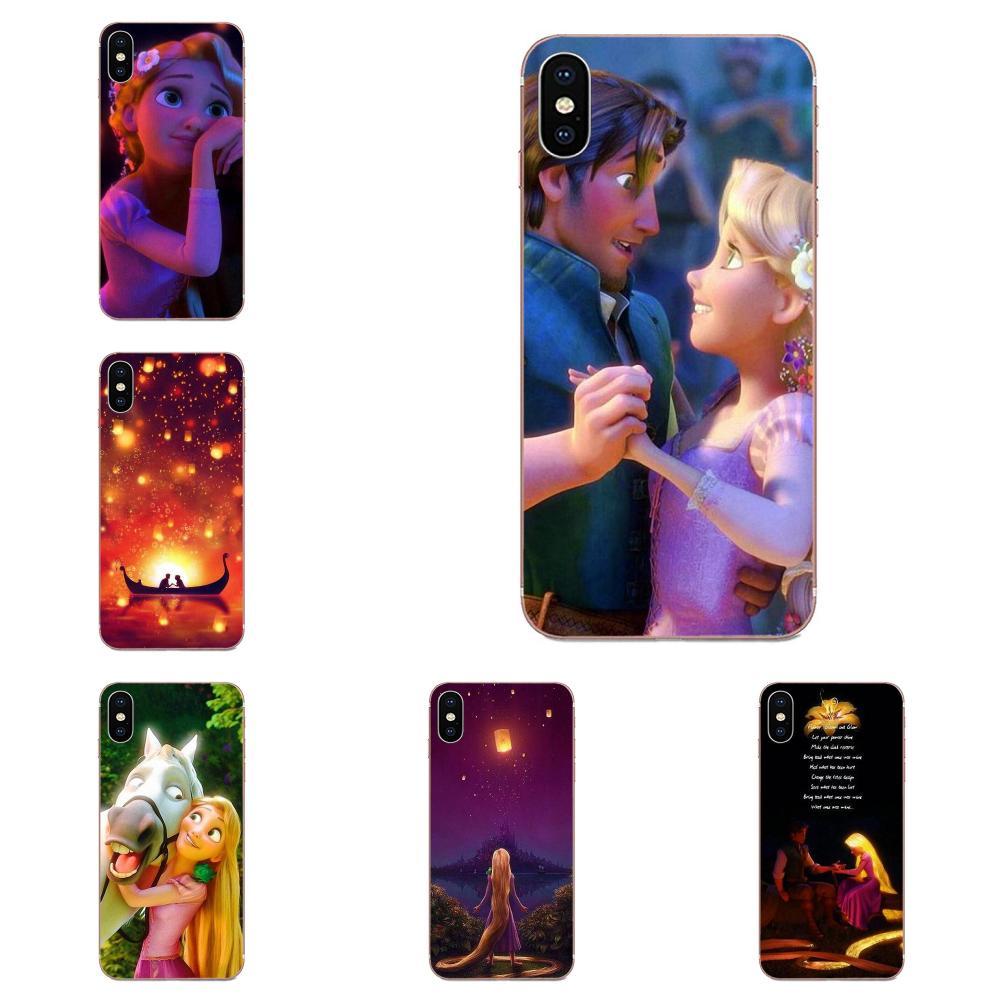 Para Galaxy Note 10, A10E, A10S, A20S, A30S, A40S, A50S, A6S, A70S, A730, A8S, M10S, M30S, Lite Plus, TPU, Capa, Tangled Flynn y Rapunzel