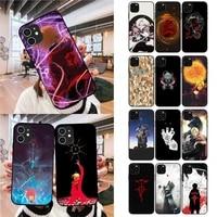 full metal alchemist phone case for iphone 12 mini 11 pro xs max x xr 7 8 plus