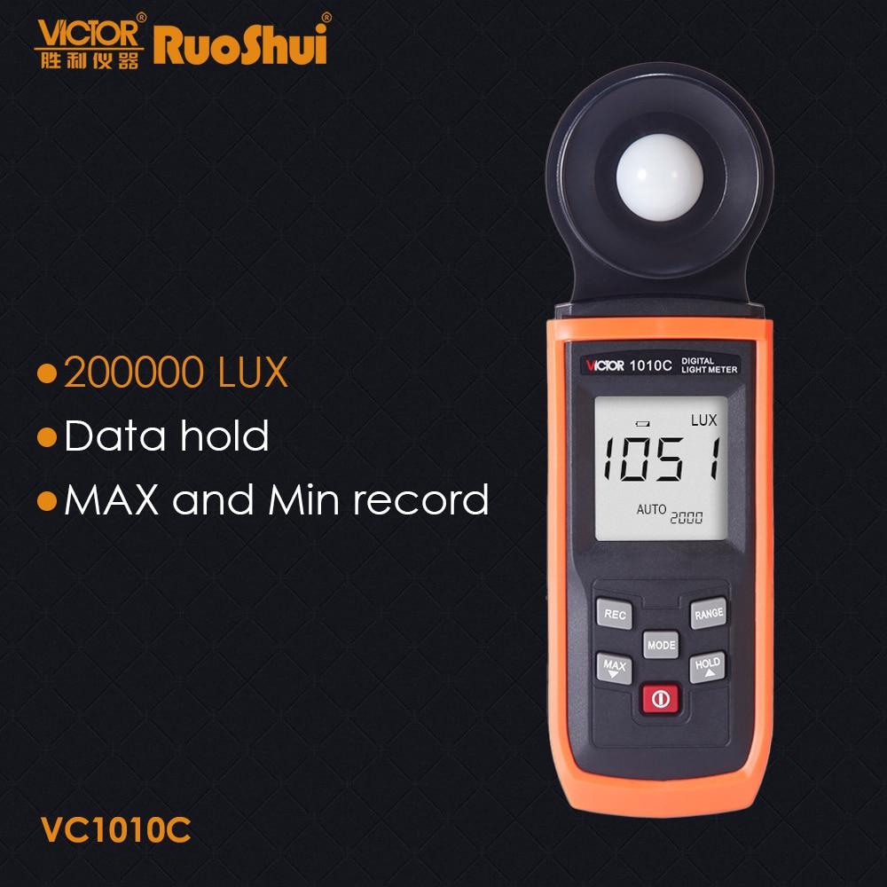 RuoShui-luminómetro Digital de lujo 1010C, medidor de luz uv Lux FC, Digital,...