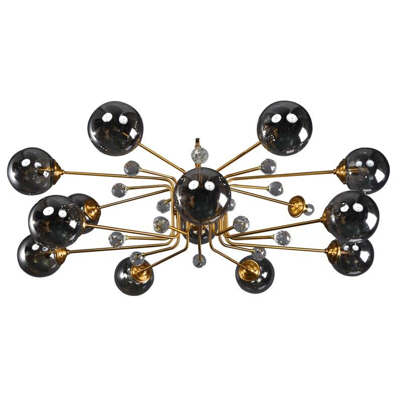 Светодиодные комнатные подвесные светильники, современные хрустальные подвесные светильники со стеклянными шариками для спальни, гостино...