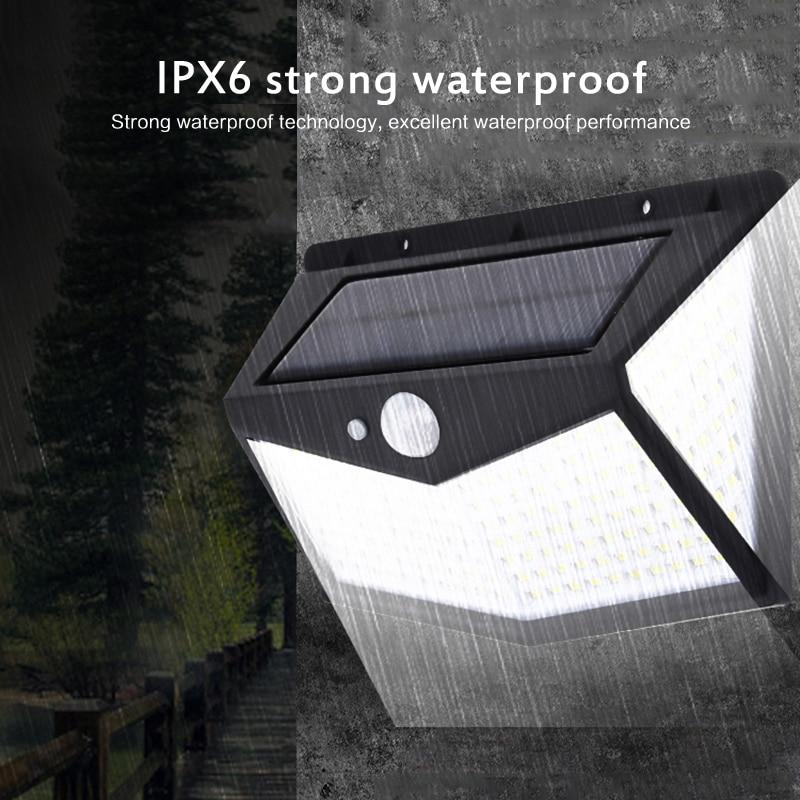 Iluminación al aire libre 212 LED colector Solar luz impermeable al aire libre lámpara LED con Sensor de movimiento PIR luz Exterior para la calle