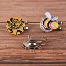25mm Golf Hat Cap Clip Marker Golf Ball Magnetic Hat Clips Outdoor Alloy Golf Fans Supplies Accessor