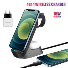 4 in 1 15w Qi Phone Wireless Charger Stand Dock Station For Apple Watch Series AirPods Pro iPhone Sa