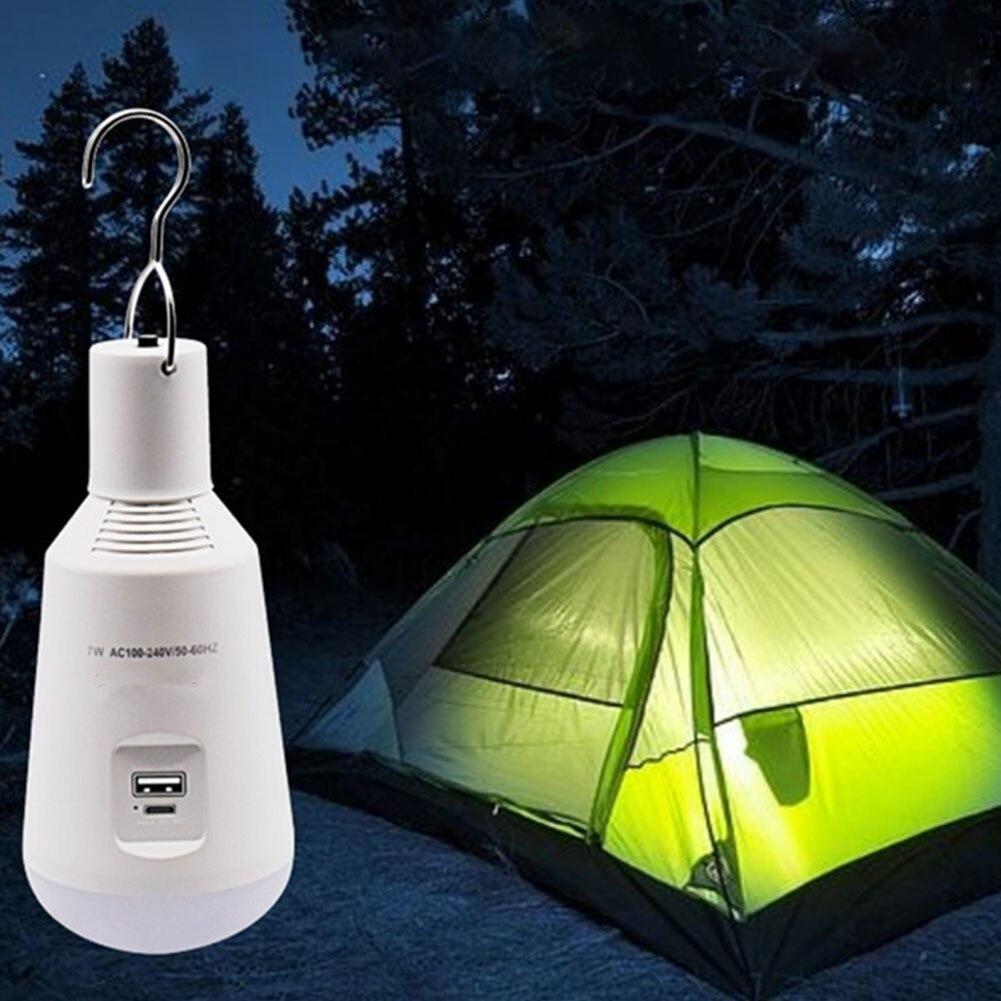 Outdoor Camping Tent Lamp Solar Powered LED Light Hook Bulb Multifunctional Portable Outdoor Lantern Bulb Light Solar Lighting