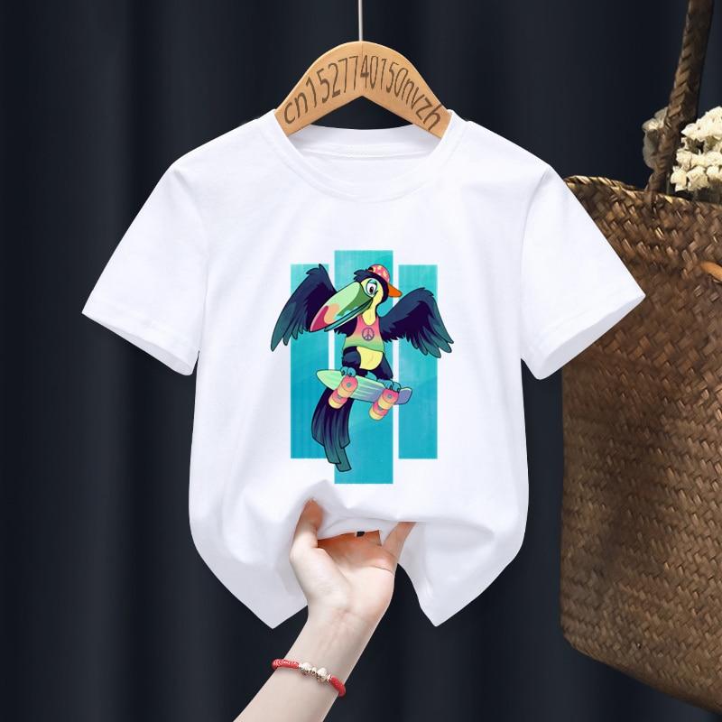 Furry Funny Boy Girl T-shirts Kid Children Anime Gift Present Little Baby Harajuku Clothes,Drop Ship