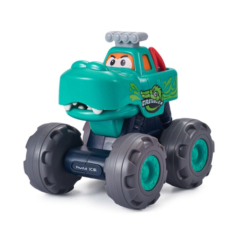 Toys Truck Friction Powered Vehicles Inertia-Double Side Stunt Car Off Road Model Vehicle for Boys and Girls