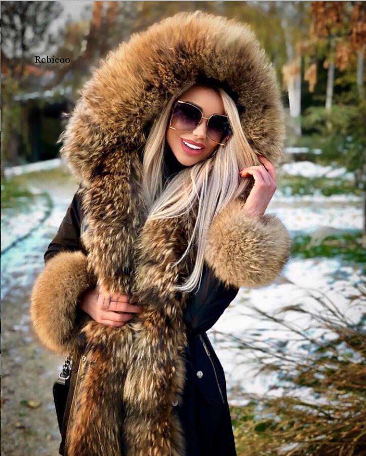 Зимние женские парки с флисовой подкладкой, размера плюс толстые теплые парки средней длины с капюшоном, куртки с мехом внутри, женские тонк...