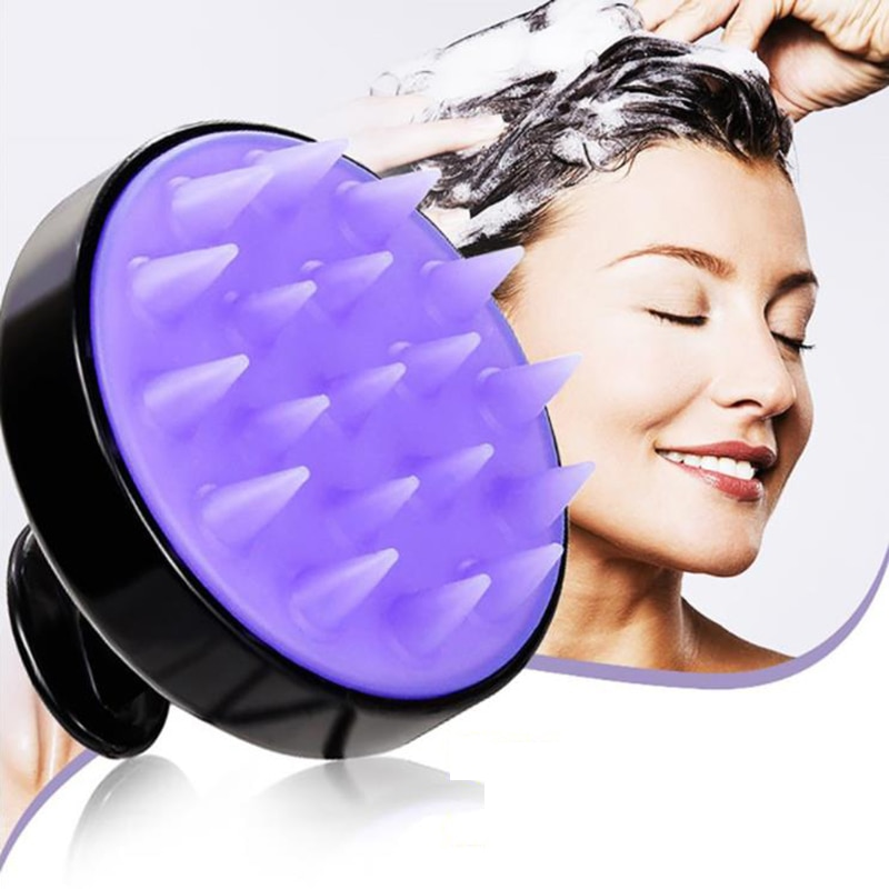 Silicone Head Body Scalp Massage Brush Shampoo Hair Washing Clean Comb Shower Bath Spa Slimming Mass