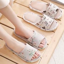 Pantoufles de lin antidérapantes hôtel pantoufles chaussures de mariage pantoufles maison mocassins mousse bas invité pantoufles chaussures bascule