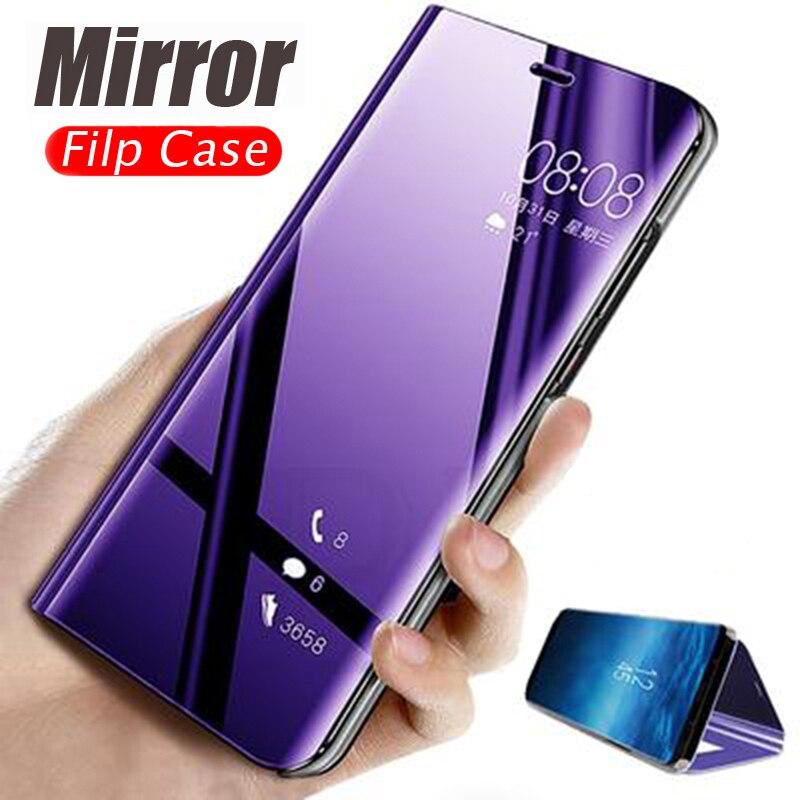 Espelho inteligente Do Caso Da Aleta Para Samsung Galaxy A90 A80 A70 A60 A50 A40 A30 A20 A10 A9 Estrela Sate Pro Lite A8S A6S A920 A7 Tampa Do Telefone