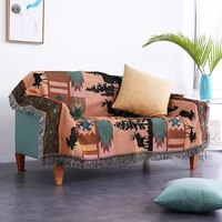 brown bohemia sofa cover flower sofa towel for living room bear couch slipcoverl 100cotton couch cover blanket