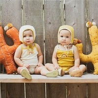 au infant baby girl clothes kid rainbow rompers sling jumpsuit outfit clothes 0 24m tops