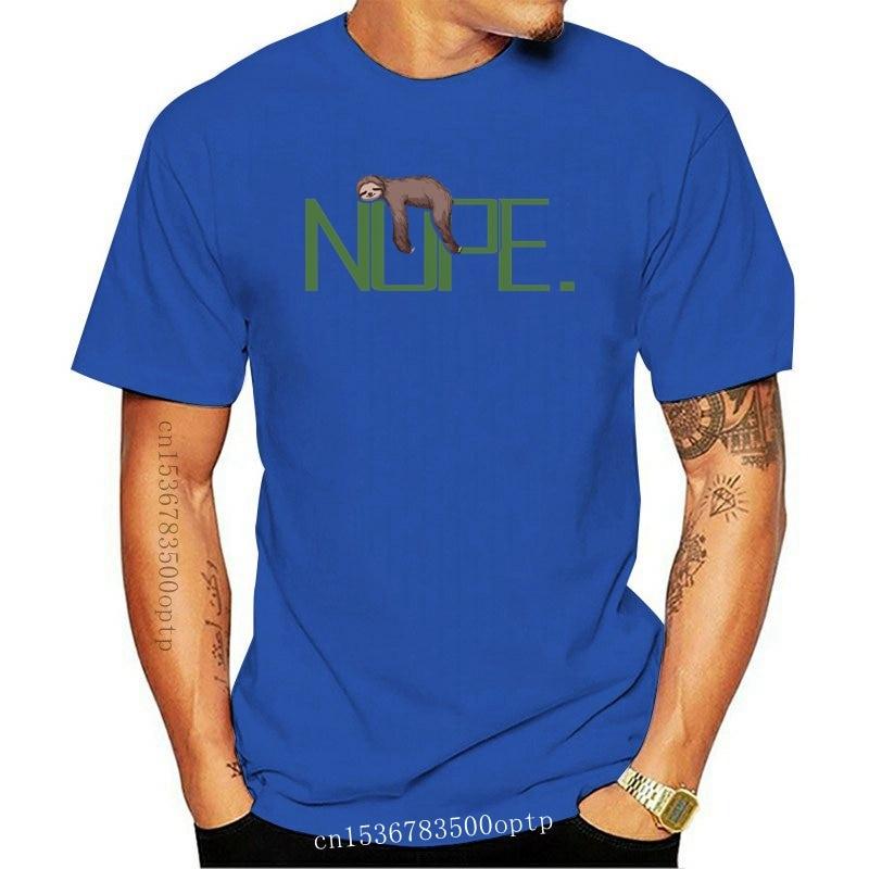 New Funny Men t shirt white t-shirt tshirts Black tee Nope sloth gift tshirt  nope not today shirt F