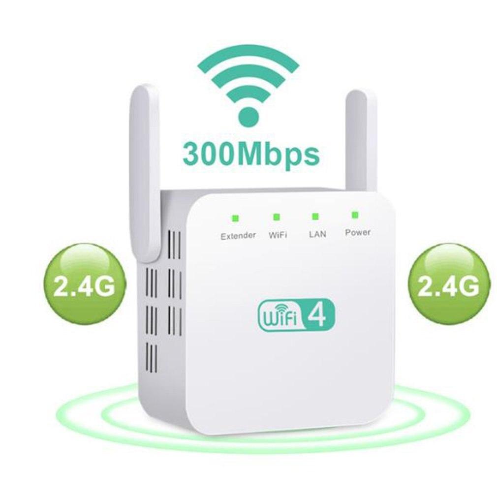 Wireless WiFi Repeater Wifi Extender 2.4GHz 300Mbps Wi-Fi Amplifier Long Range Wifi Signal Booster Long Range Wifi Smart Home