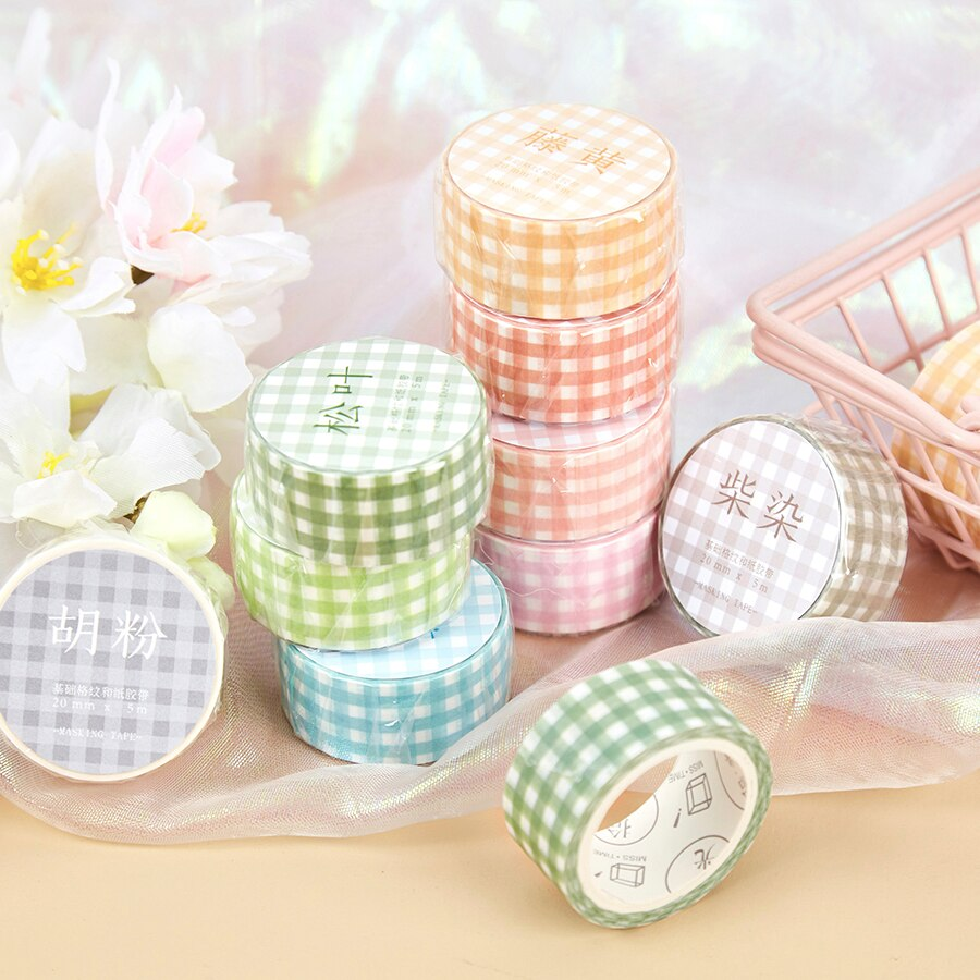 Série de grade básica diário washi máscara fita decorativa sal simples fita adesiva diy scrapbooking etiqueta papelaria