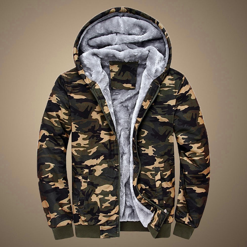 Камуфляжная куртка, мужские Зимние флисовые толстовки, утепленные пальто в стиле милитари, Мужская одежда, повседневная плотная теплая тол...