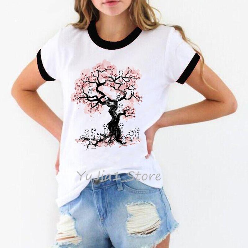Estudio japonés ghideli Miyazaki Hayao anime no face totoro Spirit Away camiseta mujer gráfico divertido camisetas 80s 90s streetwear