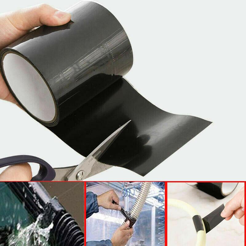 Multifunction Black White Rubber Silicone Repair Waterproof Bonding Tape Rescue Self Fusing 1PC