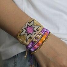 Rttooas or étoile MIYIKI Bracelet perlé pour les femmes Pulseras Mujer Moda 2020 Boho fait main tissé Bileklik brassard