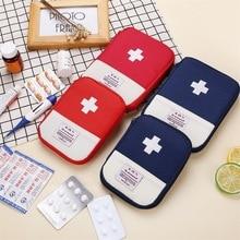 Kit médico portátil de primeros auxilios, bolsa de viaje para acampar al aire libre, útil, Mini bolsa de almacenamiento de medicina, bolsa de Camping, estuche de píldora de silicona