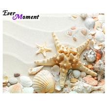 Immer Moment Diamant Malerei Starfish Shell Strand Dekoration Für Home Kreuz Stich Voll Quadrat Bohrer Diamant Stickerei ASF2036