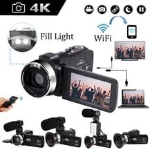 4K Video Camera Camcorder 16X Digital Zoom Handycam 48MP Built-in Fill Light Touch Screen Vlogging F