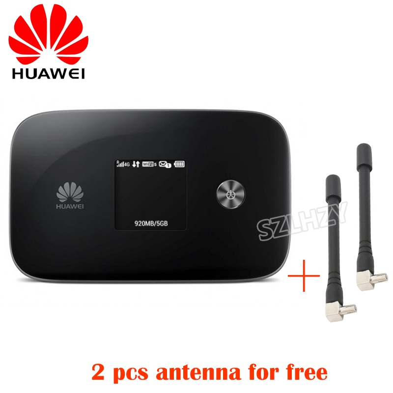 HUAWEI Unlocked E5786 E5786s-62a 4G Cat6 LTE 300Mbps 4G Mobile Pocket Hotspot Modem Mifi 3000mah battery with 2 pcs ts9 Antenna