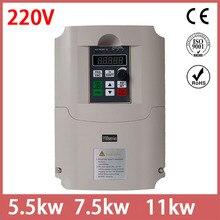 Pour russe 11KW 220V AC lecteur contrôle vectoriel inverseur de fréquence VFD variateur de fréquence ventes directes dusine