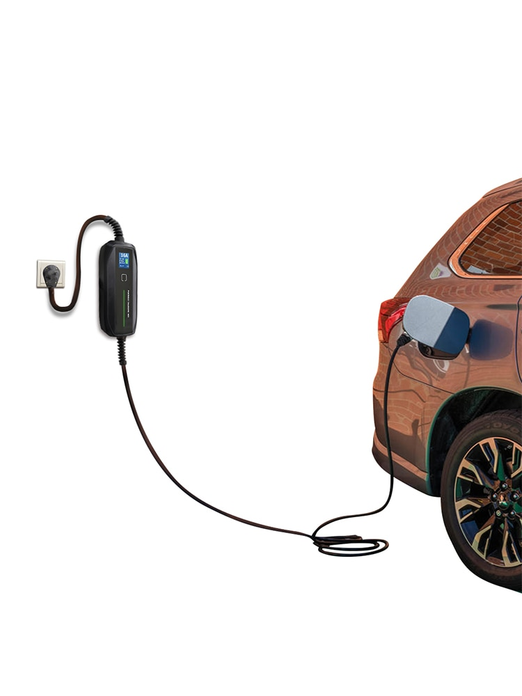 Morec Type 2 Portable EV Charging Box Cable Switchable 10/16A Schuko Plug Electric Vehicle Car Charger EVSE 2.2/3.6KW enlarge